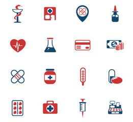 drug store color icon set