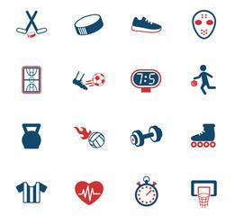 sport color icon set