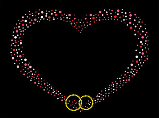 Wedding heart from circles