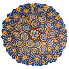 Colorful oriental decorative hand drawn mandala pattern