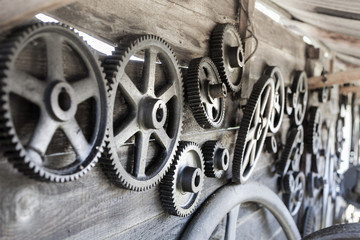 Remember the past: old gearwheels in Romania