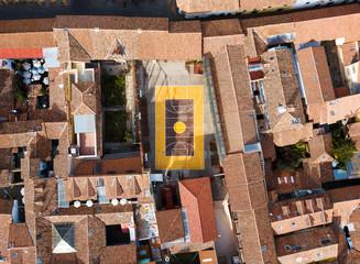 Rooftops of Cusco city in Peru