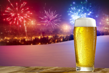 beer and new year time