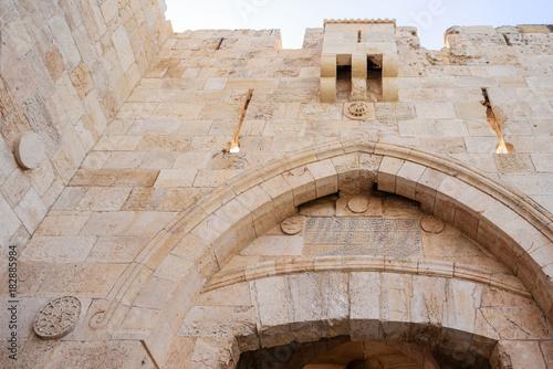 Jerusalem, Old City Wall, top of Jaffa Gate