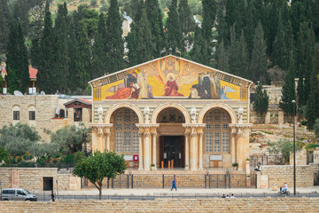 The church of All Nations on Olive Mountain in Jerusalem