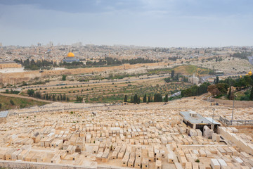 Jewish Cemetery on the Mount of Olives, including the Silwan necropolis is the most ancient cemetery in Jerusalem.