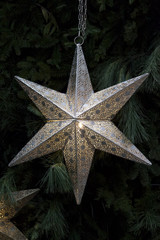 silver christmas star