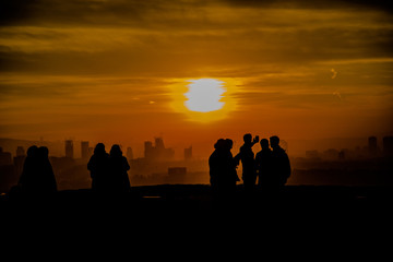 Ankara sunset silhouette