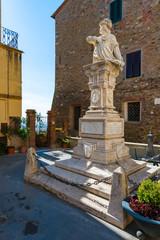 Piazza Garibaldi in Scarlino near Grosseto, Italy