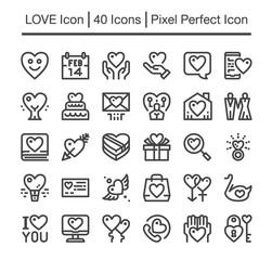 love line icon,editable stroke,pixel perfect icon