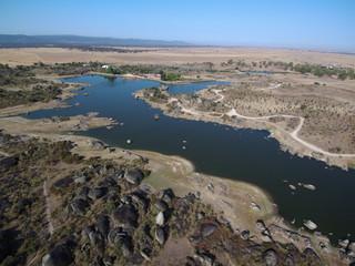 Los Barruecos desde el aire. Fotografia aerea con Drone en Caceres, Extremadura 8 España)