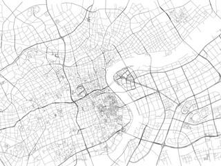 Strade di Shanghai, mappa della città, Cina, strade