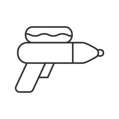 Water gun linear icon