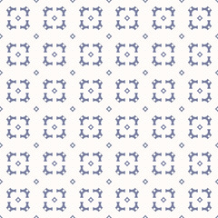 Vector geometric seamless pattern in trendy colors, white and blue serenity