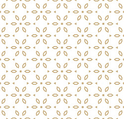 Vector geometric gold and white pattern in Japanese style. Floral ornament. Kumiko pattern.