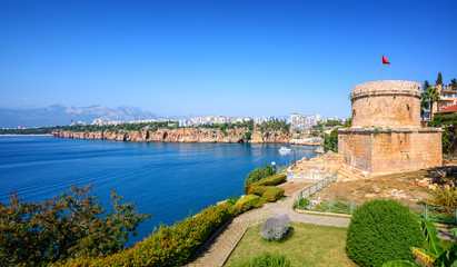 Panoramic view of Antalya city, Turkey