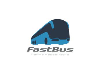 Bus passengers transportation vehicle Logo vector. Auto car icon