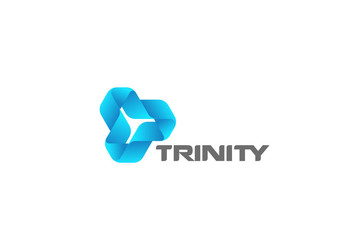 Infinity Looped Triangle Logo vector. Corporate Technology loop