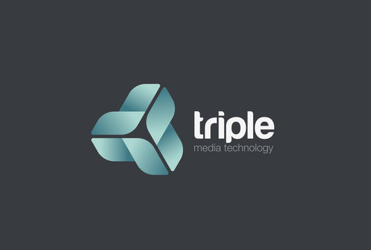 Infinity Triangle Logo vector. Corporate Technology loop icon
