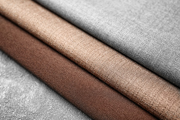 Fabrics for tailoring on table