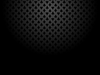 Poker background suits vector black grey