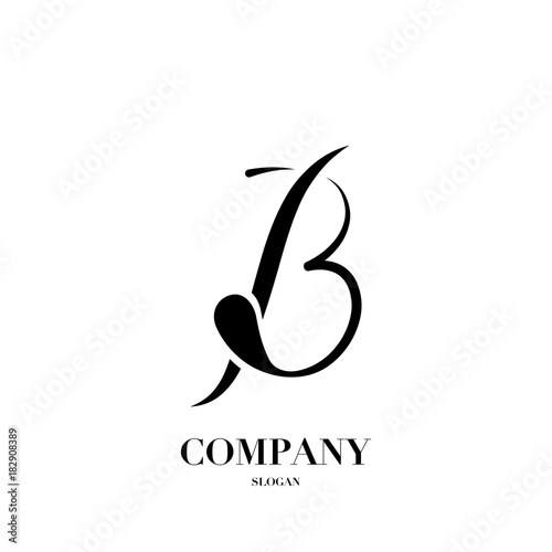 Abstract Letter B Logo Design Vector Template