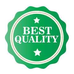 Best Quality green stamp. Vector illustration on white background.