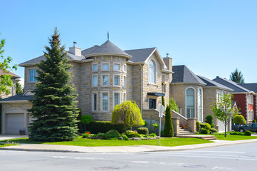 Expensive houses in summer, Montreal, Canada