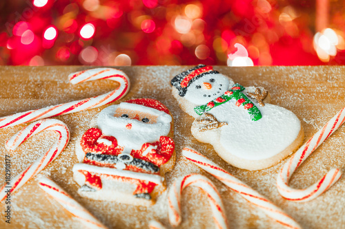 Christmas Holiday Candy Canes Decorative Cookies Stock Photo And