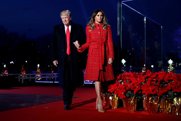 Trump participates in the National Christmas Tree lighting ceremony in Washington