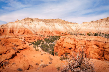 Panoramic view from above at Kodachrome Basin State Park, Utah, USA.