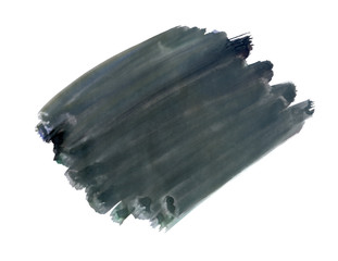 A fragment of the fashionable black color background painted with watercolors