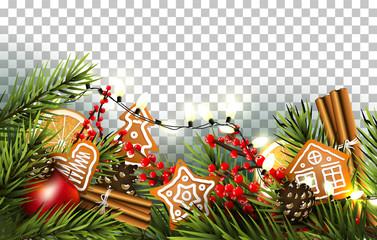 Traditional Christmas border