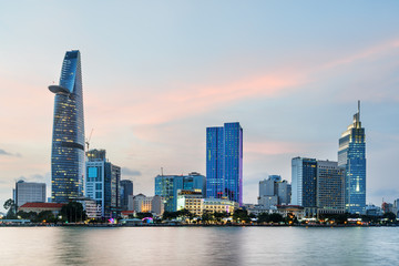 Skyscraper and other modern buildings of Ho Chi Minh City