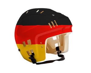 Hockey Helmet With Painted Flag of Germany