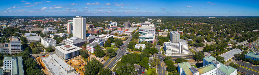Aerial panorama Downtown Tallahassee Florida