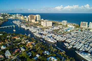 Drone image Fort Lauderdale International Boat show