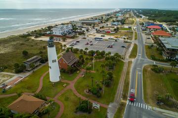 Aerial image St George Light house Florida