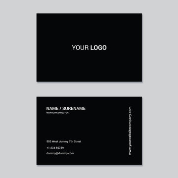 Minimalist and modern black colors business card template