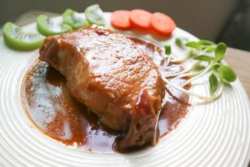 stewed pork or roast pork