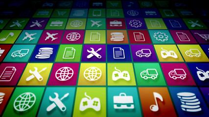 Abstract Mobile Application Icons