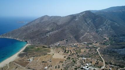 Grèce Cyclades île d' Ios vue du ciel