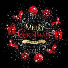 Merry Christmas, Ghirlanda Natale, Glitter