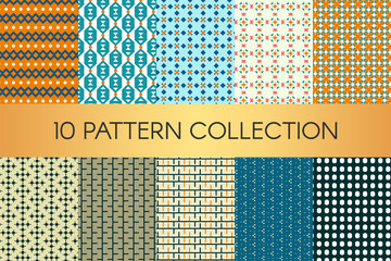 Vector illustration design. Abstract pattern collection. Trendy geometric elements.