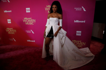 Singer Ciara poses at the Billboard Women in Music awards in Los Angeles