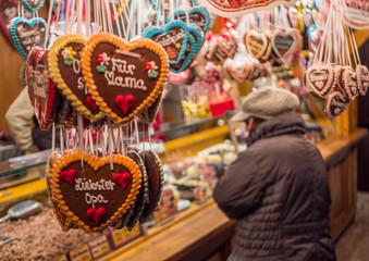 Lebkuchenherzen Weihnachtsmarkt