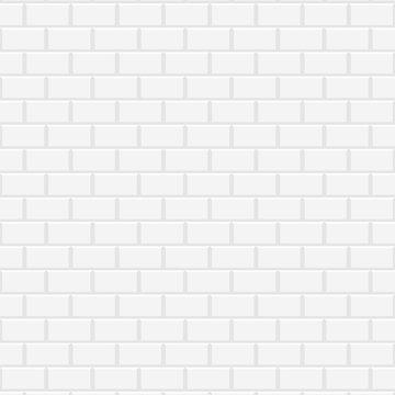 White ceramic brick wall