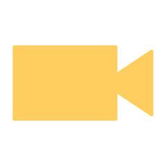 Video camera silhouette icon. Vector illustration