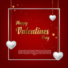 Background template greeting card on Valentine's Day