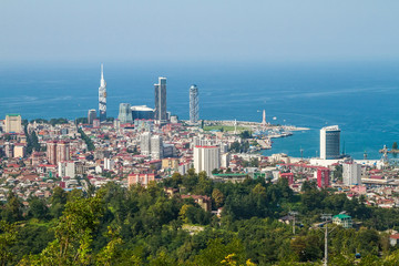 Batumi city center, Georgia, view from above
